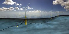 World's Largest Floating Wind Farm Gets Green Light. So far, floating turbines have been small, like the one built by the Fukushima Wind Offshore Consortium. But now Norway's Statoil will build Hywind Scotland Real Estate Companies, Renewable Energy, Solar Energy, Offshore Wind Farms, Farm Projects, Solar Water Heater, Wind Power, Set Sail, Parks