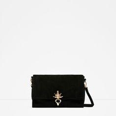 e4ac526d92f8 ZARA - WOMAN - SPLIT SUEDE CROSSBODY BAG Suede Handbags