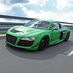 Who needs to find the pot of gold when you are driving this lovely green #AudiR8?