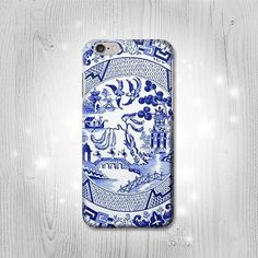 Willow Pattern Graphic Case For iPhone 7 7 Plus 6 by Lantadesign