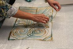 """In April, we were thrilled to bring Leiko Uchiyama  to The Thimble Classroom to share her unique felting technique, Pine Needle (or """"Matsuba..."""