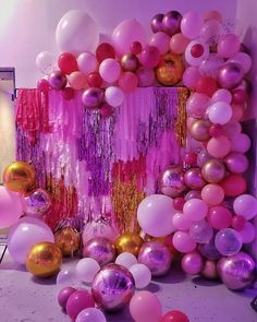 visit our website for the latest home decor trends . Birthday Goals, 21st Birthday, Birthday Parties, Diy Birthday Decorations, Balloon Decorations, Balloons Galore, Balloon Backdrop, Barbie Party, Disco Party