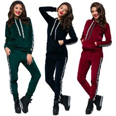 Stylish ladies hooded silk velvet sweatsuit #hood #velvet #sweatsuit