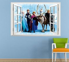 hot selling Frozen movie wall decal for kids rooms or home decoration