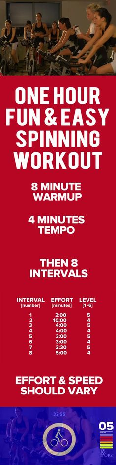 One Hour Fun & easy Spinning Workout. #cycling #spinning #workout #exercise #fitness #spinningworkout