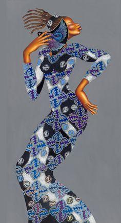 Interesting use of pattern ---  Charles Bibbs Art Work - African American Art