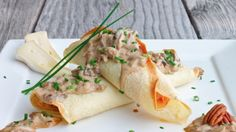 Savory Crepes stuffed with Brie, Ham and Asparagus Recipe   Yummly