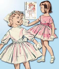 Original Vintage Butterick Pattern 9350 Darlin Baby Girls Party Dress Sz 1 Butterick Pattern Girls Party DressCute Modified Cummerbund DesignFrom the Early Nice 9 PiecesCounted. Toddler Girl Parties, Toddler Girl Outfits, Toddler Dress, Toddler Fashion, Kids Outfits, Kids Fashion, Toddler Girls, Baby Girls, Baby Boy