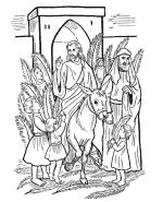 Easter coloring pages. To use while I read the Bible story.