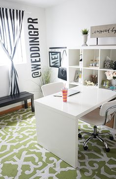 Our Office Makeover with Flor – Inspired by This