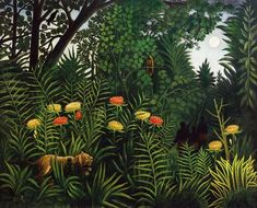 Image: Henri Julien-Félix Rousseau - Jungle with tiger and hunters