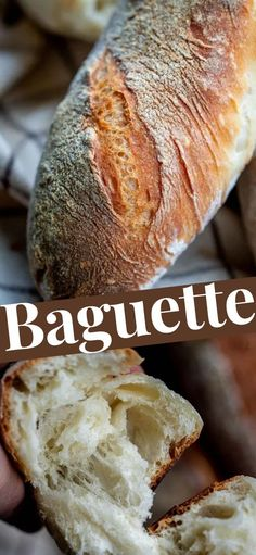 Simple Baguette Recipe - crispy on the inside, with a chewy crumb and large holes this recipe is sure a keeper! #bread #breadrecipe #amazingrecipe #quickrecipe #deliciousrecipe #baguette #bagutterecipe