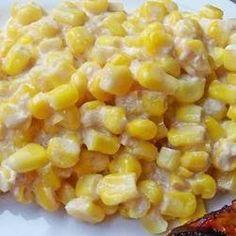 Corn and cream cheese