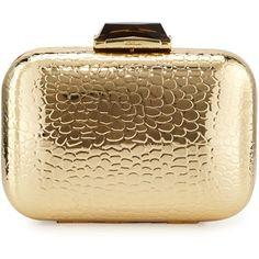Kotur Morley Croc-Embossed Box Clutch Bag