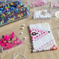 Discover thousands of images about DIY Flowerpot cover hama beads by La petite épicerie - Video tutorial and pattern Perler Bead Designs, Diy Perler Beads, Pearler Beads, Plastic Bead Crafts, Plastic Beads, Hama Beads Patterns, Beading Patterns, Loom Patterns, Activities For Kids