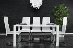 Design Esstisch LUCENTE weiss hochglanz 160cm Tisch  bei Riess Ambiente