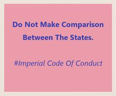 Tax Haven, Code Of Conduct