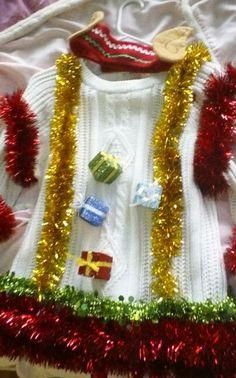 Ugly Christmas Sweater w/ elf ears