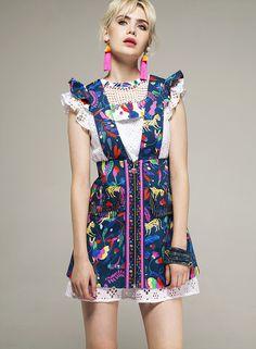 Sara is in Love with… fashion blog style CeliaB Spanish Bomb! SS17 Asian Natacha Duarte prints colourful ruffles mesh embroidery Fashion Prints, Boho Fashion, Fancy Hats, Spanish Style, Alternative Fashion, Ruffles, Dressing, Textiles, Clothes