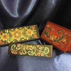 Rosemaled boxes painted by Brenda Rud