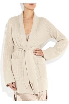 Burberry waffle knit cashmere robe