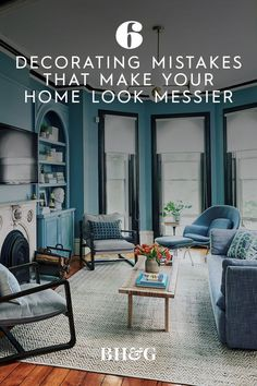 To help you create a space that looks clean and organized, we've compiled a list of decorating mistakes that could be making your home appear messy. #howtomakemyhouselooklessmessy #decluttering #homedecormistakes #bhg Built In Shelves, Open Shelving, Clearing Out Clutter, Inside Cabinets, Living Room Seating, Home Decor Trends, Home Look, Decluttering, Window Coverings