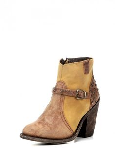 94cca360e20 Independent Boot Company Women s Augusta Bootie - Aged Tan and Honey