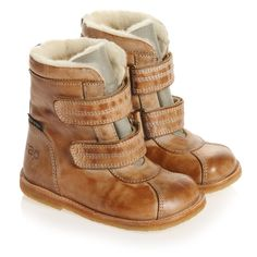 Tan Brown Leather Boots - Shoes |