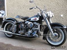 1959 Harley Davidson PANHEAD DUO-GLIDE collectible Motorcycle Tourer ...