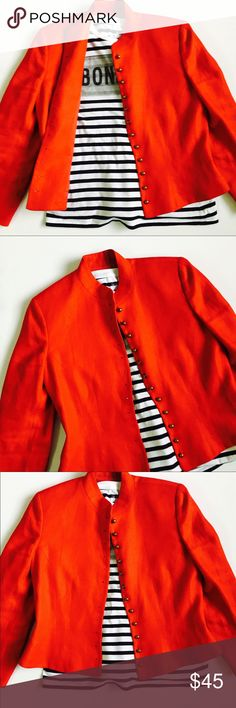 Ralph Lauren Red Military Style 100% Linen Blazer Ralph Lauren Red Linen Blazer 100% Linen. Size 8. Used but in perfect condition. Ralph Lauren Jackets & Coats Blazers