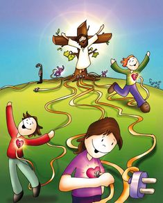 Share the love ❤️ Happy Good Friday Catholic Catechism, Catholic Art, Religious Art, Bible Stories For Kids, Bible For Kids, Bible Crafts, Bible Art, Jesus Jose Y Maria, Miséricorde Divine
