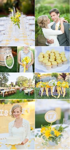 Why YELLOW just works! From Style Me Pretty: http://www.stylemepretty.com/2012/04/03/kenwood-wedding-by-emily-scannell-photography