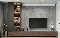 Modern apartments - interior design by VYMIR Design Tv Wall Design, House Design, Sofa Design, Modern Tv Wall Units, Modern Tv Unit Designs, Modern Design, Tv Wanddekor, Living Room Tv Unit Designs, Bedroom Tv Unit Design