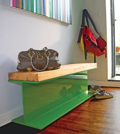 How cool is this I-beam bench?  So appropriate for a house near Bethlehem Steel.