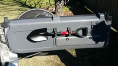 Quick-fist clamp holding camping shovel on Honda CRV                                                                                                                                                                                 More