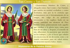 MISIONEROS DE LA PALABRA DIVINA: SANTORAL - SAN COSME Y SAN DAMIÁN