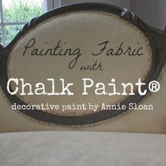 Learn how to paint fabric with Chalk Paint® Decorative Paint by Annie Sloan. A great way to save on upholstery and fabric costs.