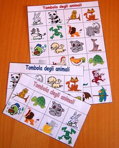 Playing with animals: bingo- Giocare con gli animali: la tombola Playing with animals: bingo - Decor Crafts, Diy And Crafts, Crafts For Kids, Paper Crafts, Slim Christmas Tree, Little Christmas Trees, Party Co, Baby Party, School Of Rock