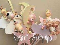 Felt Crafts, Diy And Crafts, Arts And Crafts, Kit Bebe, Polymer Clay Figures, Balloon Flowers, Clay Baby, Fondant Tutorial, Ideas Para Fiestas