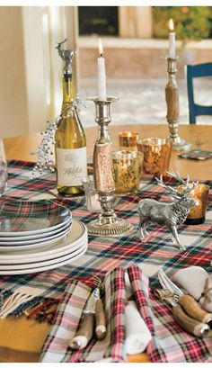 Tartan Holiday Entertaining Collection