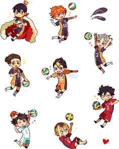 Haikyuu!! Sticker Pack (Set) by marburusu