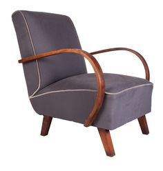 Pair of Halabala Armchairs c.1950 Newly Upholstered