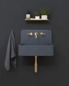 Kast Launches Collection of Patterned Concrete Basins Called Kast Canvas (Design Milk) - Gabriele Home - Home Design Jet Home Design, Chalet Design, Home Interior Design, Bath Design, Design Ideas, Sink Design, Gray Interior, Contemporary Interior, Luxury Interior