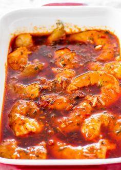 Spicy New Orleans Shrimp - hot spicy decadent and super delicious New Orleans style shrimp! SPICY NEW ORLEANS SHRIMP lb Tiger shrimp ( cloves Lemon ( juice tsp Oregano ( tbsp tbsp Chili sauce ( tsp Liquid tsp Sriracha hot Seafood Boil Recipes, Cajun Recipes, Cooking Recipes, Healthy Recipes, Spicy Shrimp Recipes, Cajun Seafood Boil, Haitian Recipes, Donut Recipes, Snacks