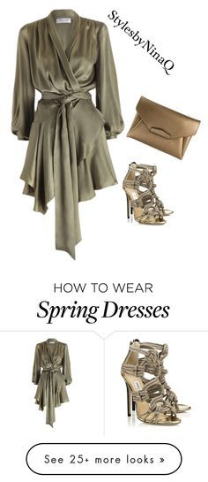 """Untitled #394"" by nina-quaranta on Polyvore featuring Zimmermann, Jimmy Choo and Givenchy"