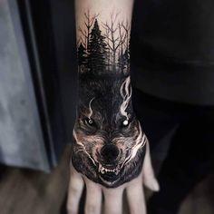 Top Tatuagens on Ins Wolf Tattoos Men, Native Tattoos, Badass Tattoos, Animal Tattoos, Body Art Tattoos, Cool Tattoos, Tatoos, Wolf Tattoo Sleeve, Best Sleeve Tattoos