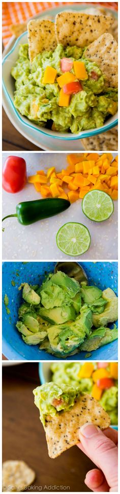 YUMMMMM! Mango Guac // chunky, creamy with a touch of sweetness #appetizer #summer