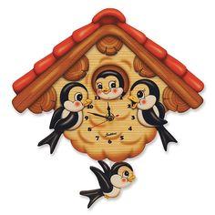 Bartolucci E-shop - Standard Clock Ladybird Vintage Christmas, Christmas Gifts, Santa's Nice List, Pendulum Wall Clock, Wall Clocks, Growing Up Girl, Blue Fairy, Red Roof, Birthday Gifts For Kids