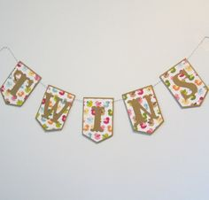 Birdie Twins Baby Banner  Baby Shower or Nursery by JessMadeThis, $12.00