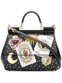 2733ca64f Dolce E Gabbana Women's Bb6002as175hnm70 Black Leather Handbag: Amazon.co.uk:  Shoes
